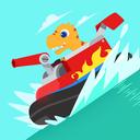 Dinosaur Patrol Boat - Coast Guard Games for kids