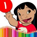 کتاب رنگ آمیزی - ليلو و استيج ۱