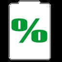 نمایش درصد شارژ باطری