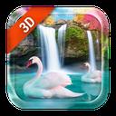 Live Wallpaper Waterfall& Swan